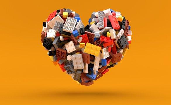 Bricks in heart shape
