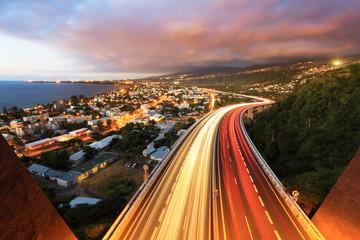 Autocollant pour porte Marron Circulation dense à La Réunion