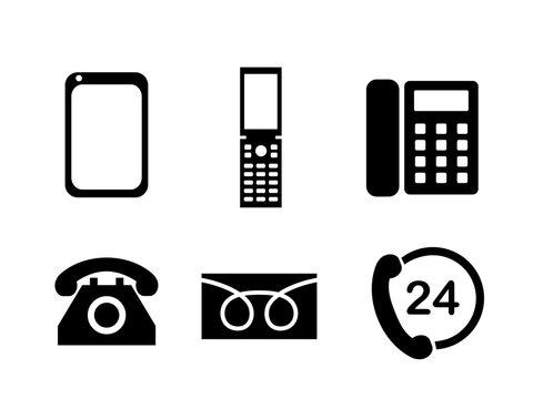 電話機アイコンマークセット