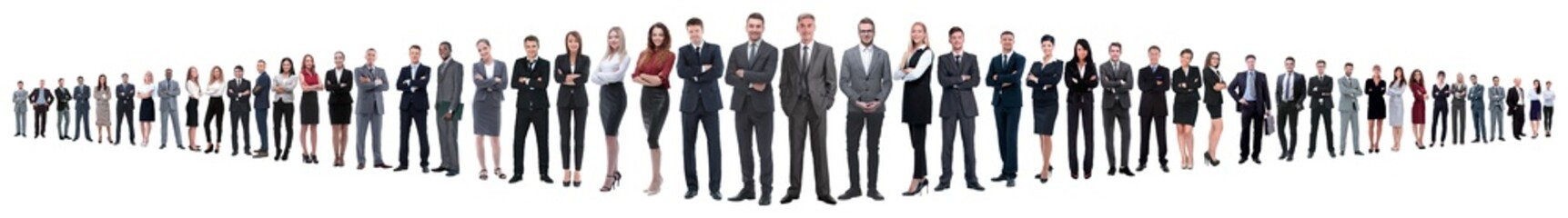 panoramic collage of a large and successful business team Fototapete