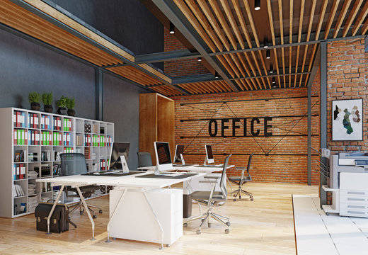 contemporary loft office