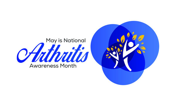 Vector illustration on the theme of National Arthritis awareness month of May. Arthritis is a term often used to mean any disorder that affects joints