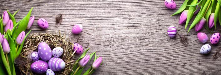 Spoed Fotobehang Tulp Easter