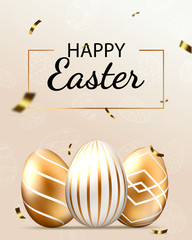 Obraz Happy Easter lettering background  - fototapety do salonu