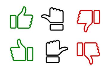 Fototapeta kciuk w górę i w dół ikona