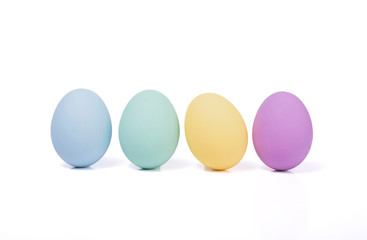 Happy easter, Easter painted egg isolated on white background.