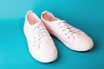 Wall Mural - a pink sneakers