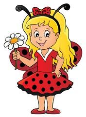 Foto op Plexiglas Voor kinderen Ladybug girl theme image 1