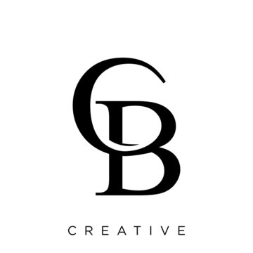 cb luxury logo design vector