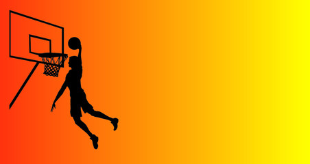 basketball sport silhouette