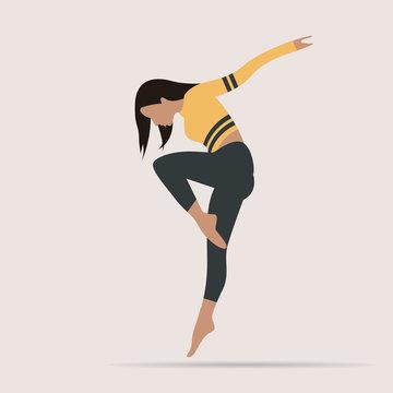 girl woman dance dancing vector symbol illustration