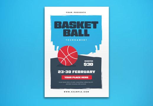 Basket Ball Tournament Flyer Layout