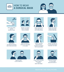 How to wear a surgical mask properly