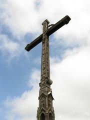 Fototapeta rzeźbiony drewniany krzyż obraz