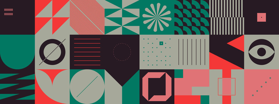 Brutalism Design Abstract Vector Pattern