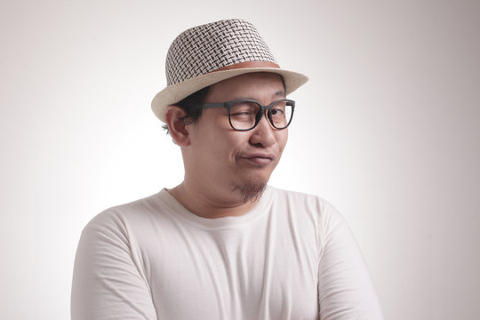 Funny Asian Man Shows Naughty Flirty Smiling