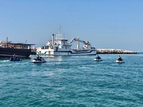 fishing boat in the sea