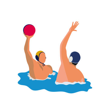 Sport. Water polo. Vector illustration