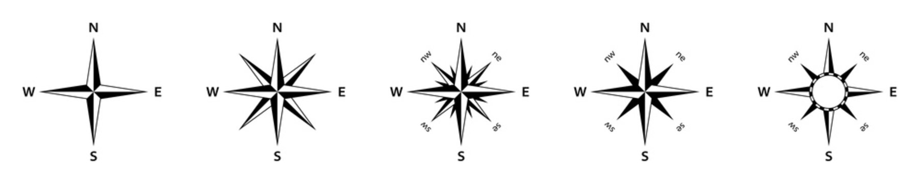 The cardinal points icon. Compass. Isolated on a white background. Vector illustration.