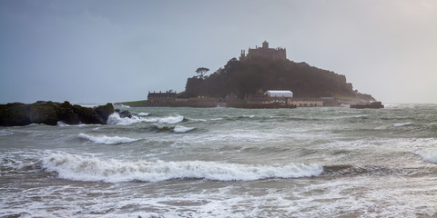 Wall Mural - Storm at St Michaels Mount Marazion Cornwall