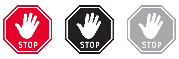 PANNEAU STOP AVEC MAIN Fototapete
