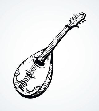Mandolin. Vector drawing icon sign