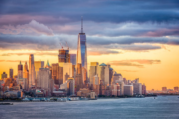 Foto auf Leinwand New York New York City Dawn