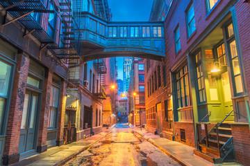 Fotobehang New York New York City Alleyways