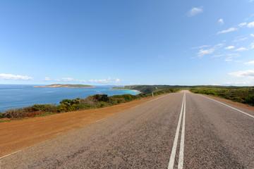 The South Coast Highway, near Esperance towards Observatory Point, WA, Australia