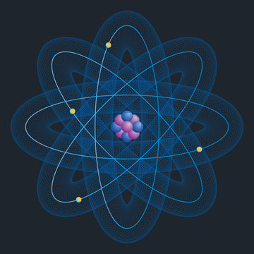 Beryllium Atom model. Science and chemical concept