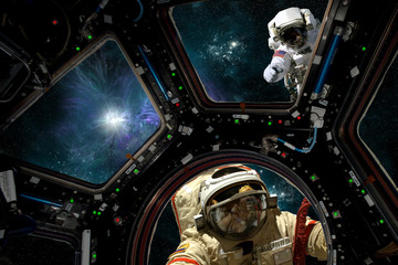 Wall Mural -  Stationwork No.27 - Elements of this image courtesy of NASA