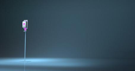 Foto op Textielframe Licht, schaduw 3D rendering of a floor stand hand sanitizer dispenser station