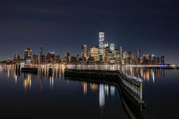 Fototapete - New York City Skyline at Night
