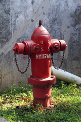 red fire hydrant in the park