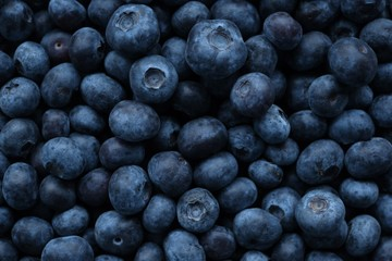 Foto op Aluminium Natuur Blueberry berry. Berry blue background. bio natural dessert and snack.Vegetarian and vegan food.Fresh ripe blueberries season.