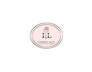 Fototapeta Letter IL handwrititing logo with a beautiful template obraz