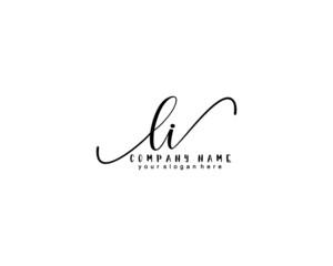 Fototapeta Letter LI handwrititing logo with a beautiful template obraz