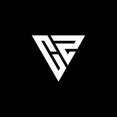 Fototapeta CZ Logo letter monogram with triangle shape design template obraz