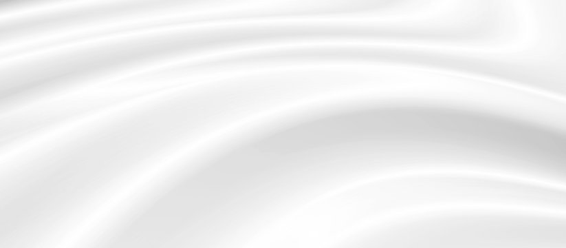 White cosmetic cream background with copy space