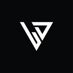 Fototapeta LD Logo letter monogram with triangle shape design template obraz
