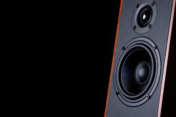 Big speaker on a black background