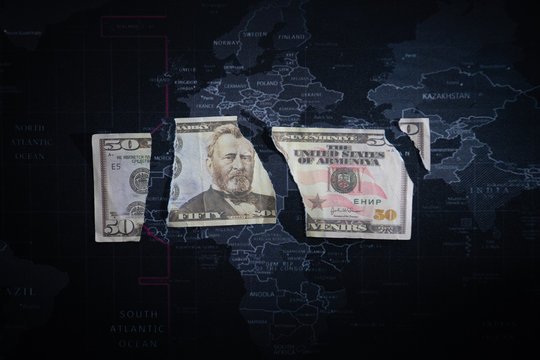 broken dollar on a world map money in a jacket pocket Concept image of Business Acronym AML Anti Money Laundering money, paper, financial, success, symbol, aml, laundering, concept, white, finance mon