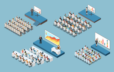 Conference Hall Isometric Set