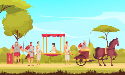 Ancient Roman People Illustration Fototapete