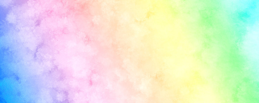 Colorful Rainbow Watercolor Background