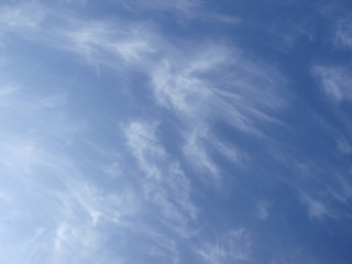 푸른 하늘과 구름 Fotobehang