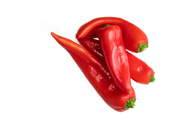 Canvas Prints Hot chili peppers Red pepper on a white background.