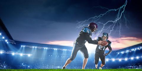 American football players . Mixed media