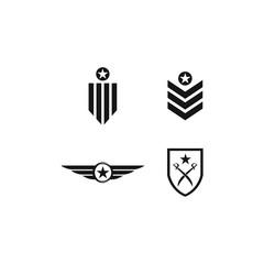 millitary icon vector illustration