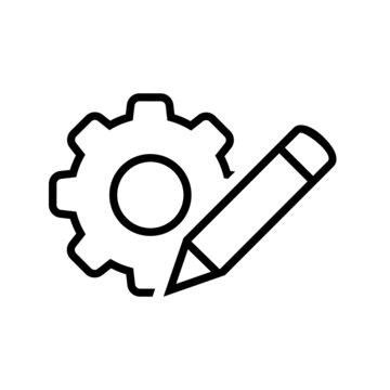 customisation vector icon. customize illustration sign. mechanical symbol.